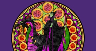 Stained Glass Maleficent