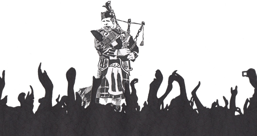 Bagpipe on stage