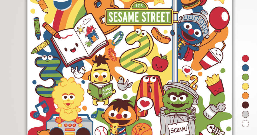 Growing Up with Colors at Sesame Street
